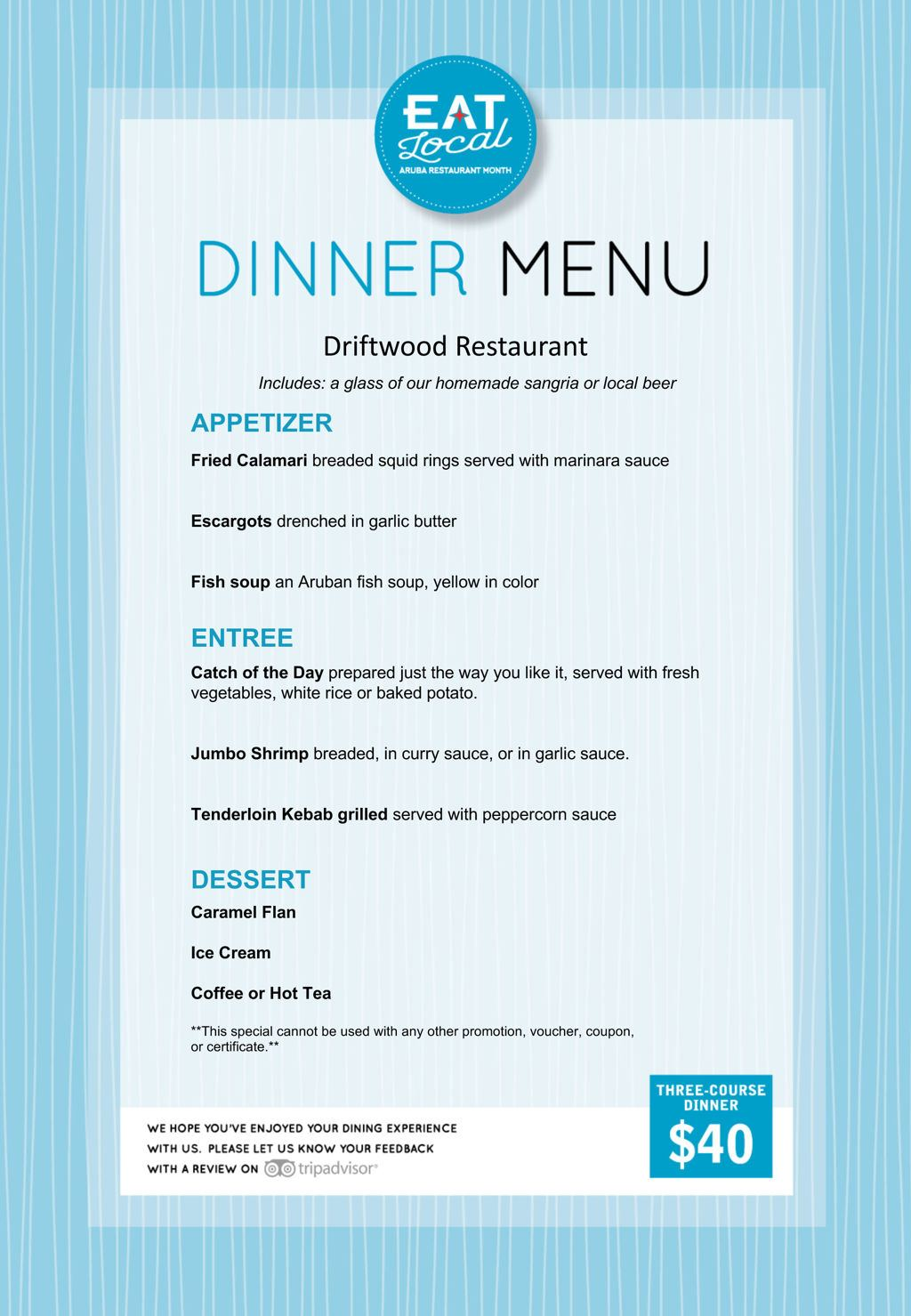 Driftwood Restaurant - Eat Local 2018