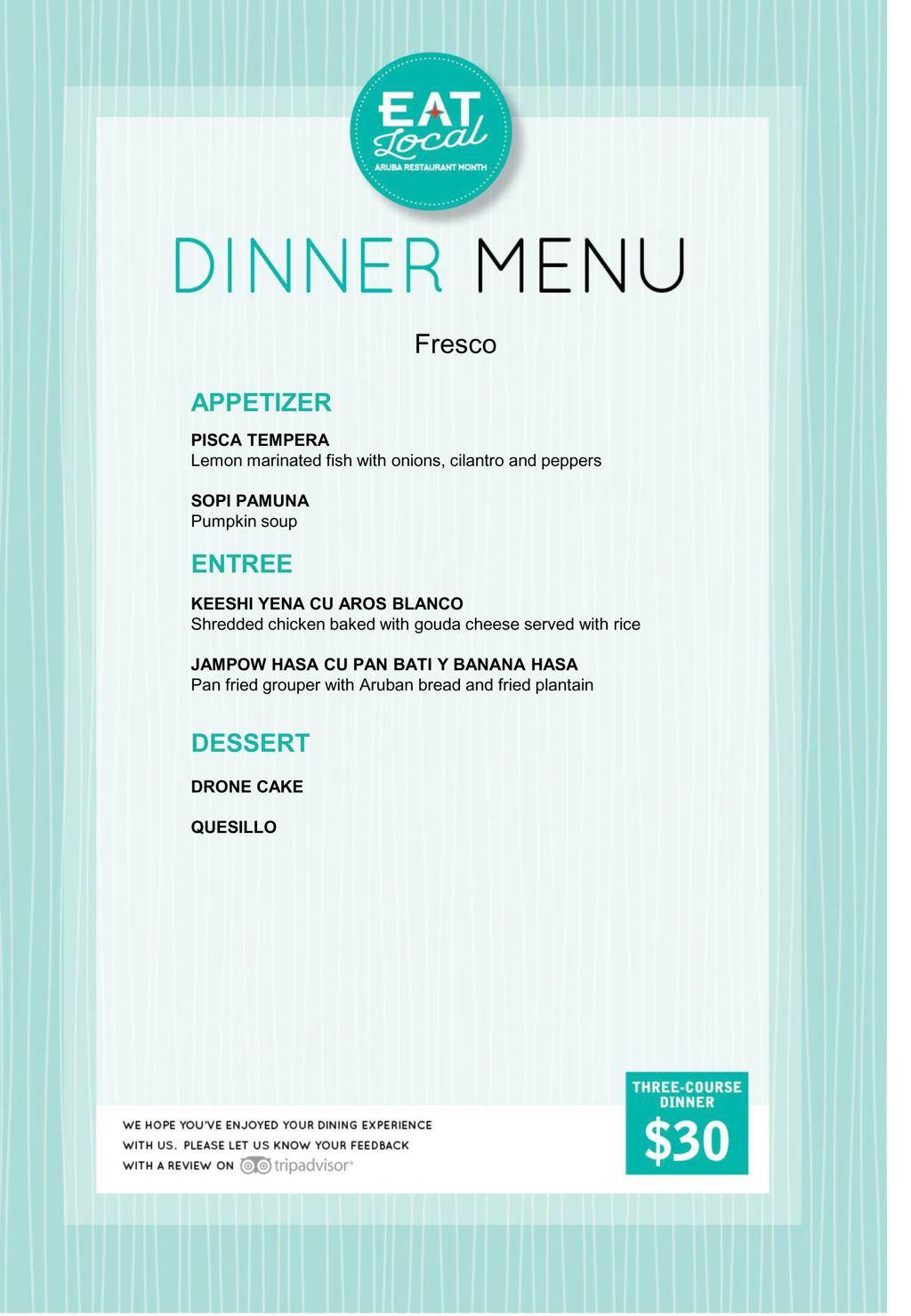 Fresco Restaurant - Eat Local 2018