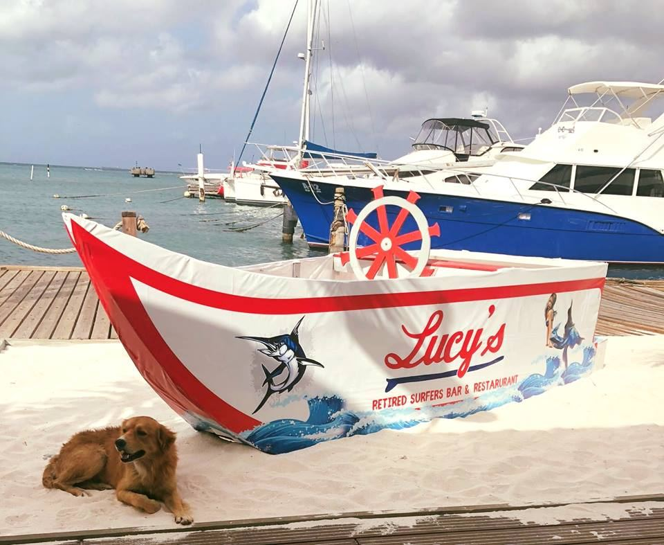 Yappy Hour at Lucy's Retired Surfers Bar & Restaurant