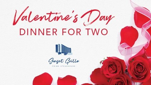 Valentine's Day Dinner for Two at Sunset Grille