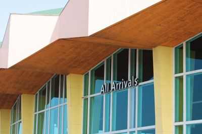 Photo of the Aruba Airport Arrivals building