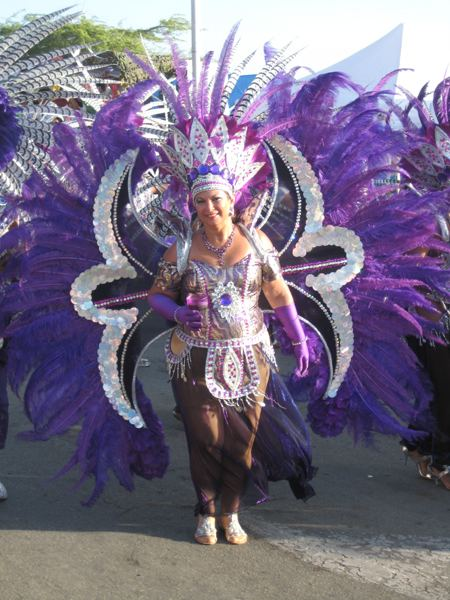Aruba Carnival purple costume