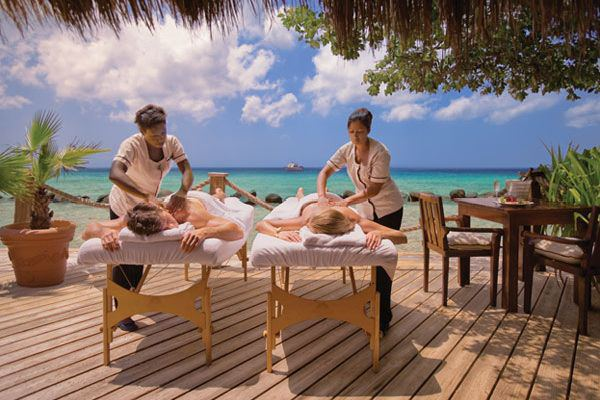 Couples massage at the Renaissance Island