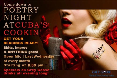Poetry Night at Cubas Cookin