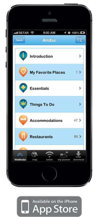 Download the VisitAruba Mobile App for IPhone